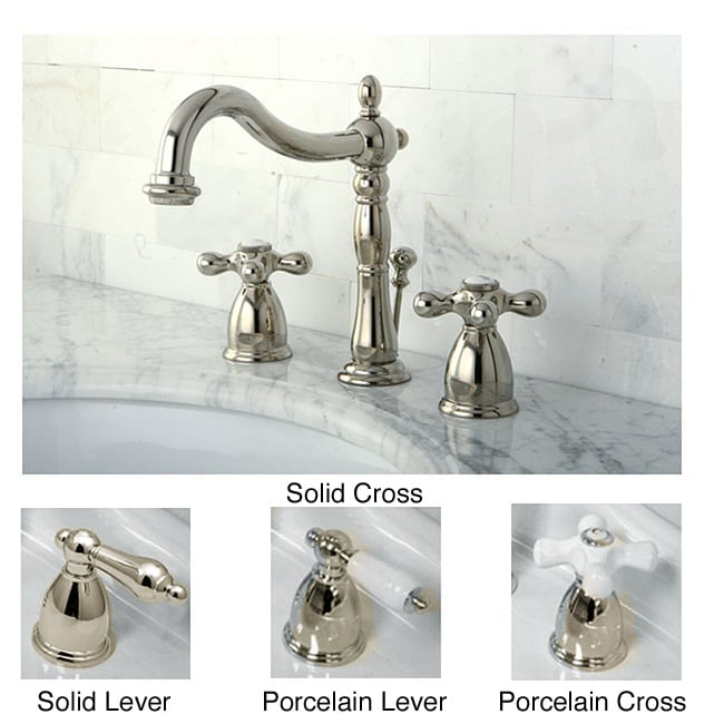 polished nickel bathroom fixtures polished nickel widespread bathroom faucet free shipping 20019