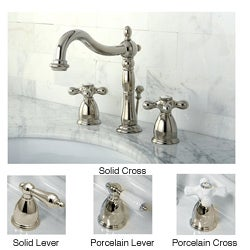 Cross Handle Oil Rubbed Bronze Widespread Bathroom Faucet - Free Shipping  Today - Overstock.com - 13645382