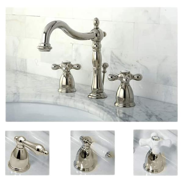 Shop Polished Nickel Widespread Bathroom Faucet Free Shipping