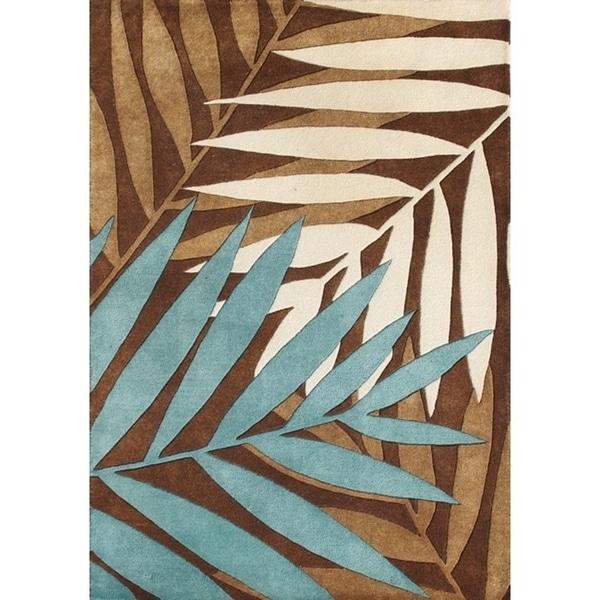 Alliyah Rugs Handmade Brown New Zealand Wool Rug - 8' x 10'
