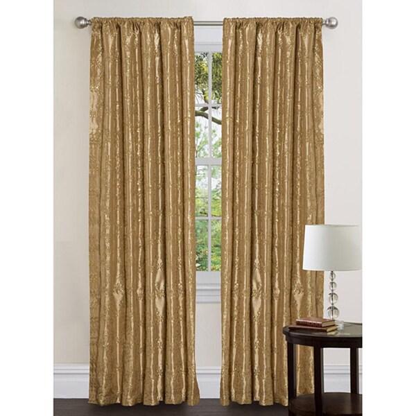 Lush Decor Gold 120-inch Angelica Curtain Panel