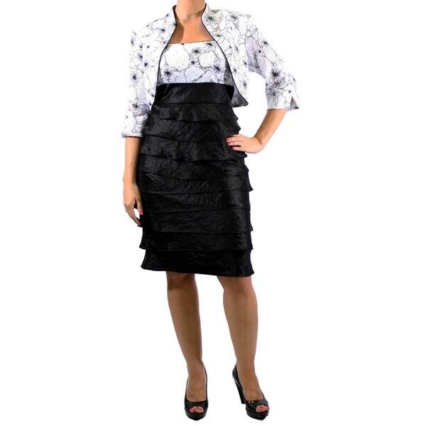 R & M Richards Lace Shutter Jacket Dress