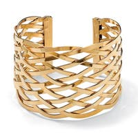 Toscana Yellow Goldplate Lattice Cuff Bracelet