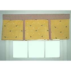 Ribbit Antique Pleated Valance