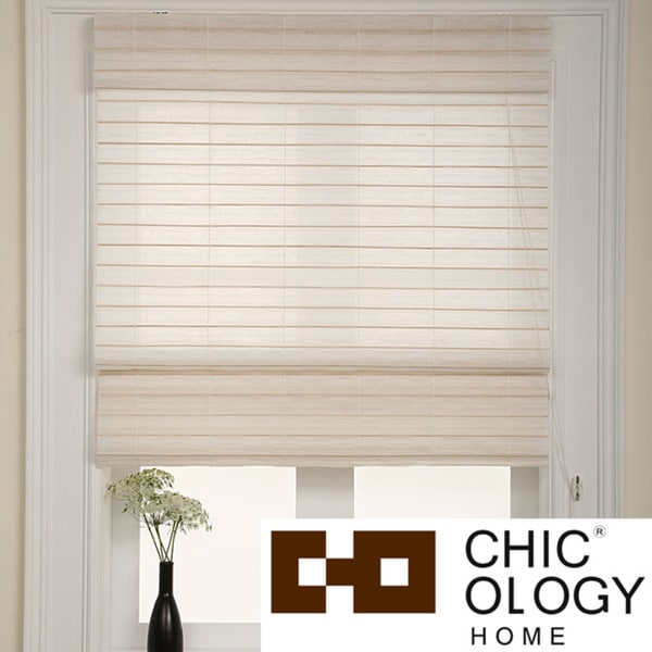 Chicology Serenity Rice Roman Shade (36 in. x 72 in.)