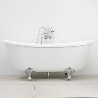 Spa Collection 67-inch Bateau Clawfoot Tub and Faucet Pack