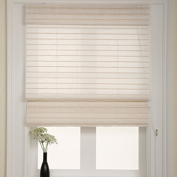 Chicology Serenity Rice Roman Shade (24 in. x 72 in.)