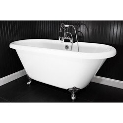 Spa Collection 59-inch Double-ended Clawfoot Tub and Faucet Pack