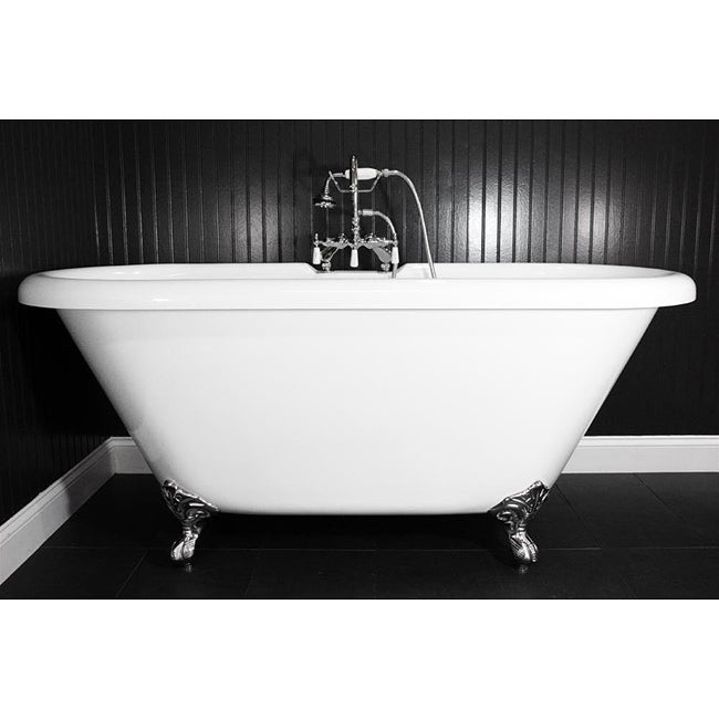 Spa Collection 67-inch Double-slipper Clawfoot Tub and Faucet Pack