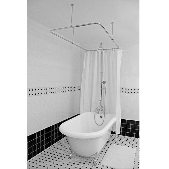 Spa Collection 56-inch Classic Clawfoot Tub and Shower Pack