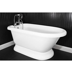 Spa Collection 56-inch Classic Style Pedestal Tub and Faucet Pack