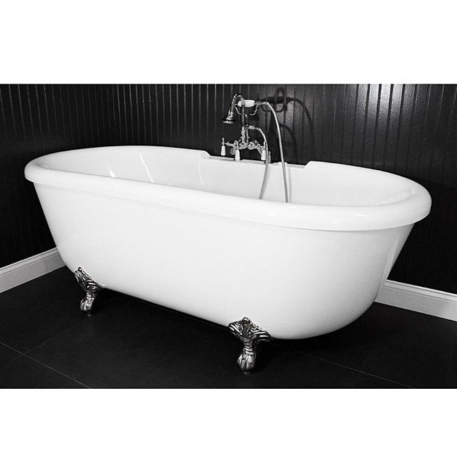 Spa Collection SanSiro SS75A 75-inch Air Massage Double Ended Clawfoot Tub Package