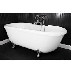 Spa Collection SanSiro SS75A 75 Inch Air Massage Double Ended Clawfoot Tub  Package