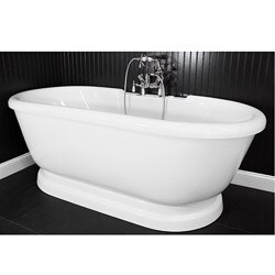 Spa Collection 75-inch Air Massage Double-ended Pedestal Tub Package