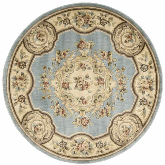 Nourison Chateau Blue Rug (5'3 Round)