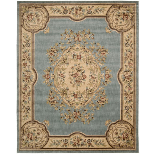 Nourison Chateau Light Blue Rug (7'9 x 9'9)
