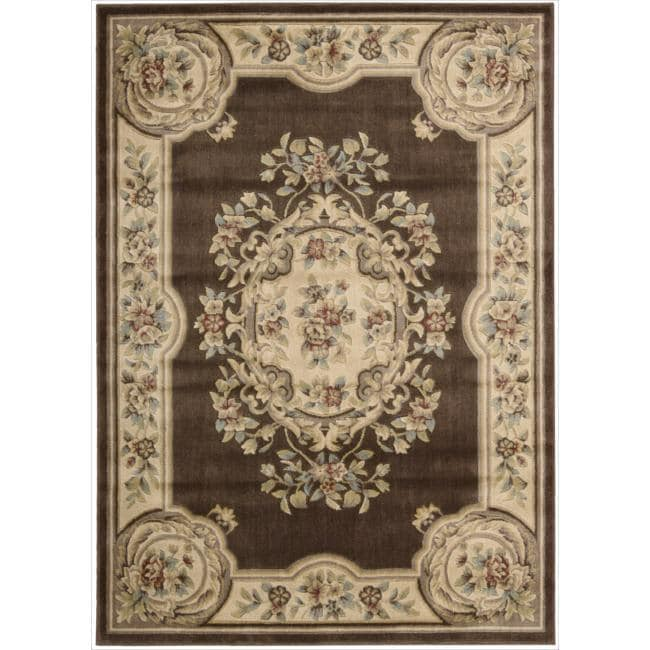 Nourison Chateau Brown Rug (5'3 x 7'5)