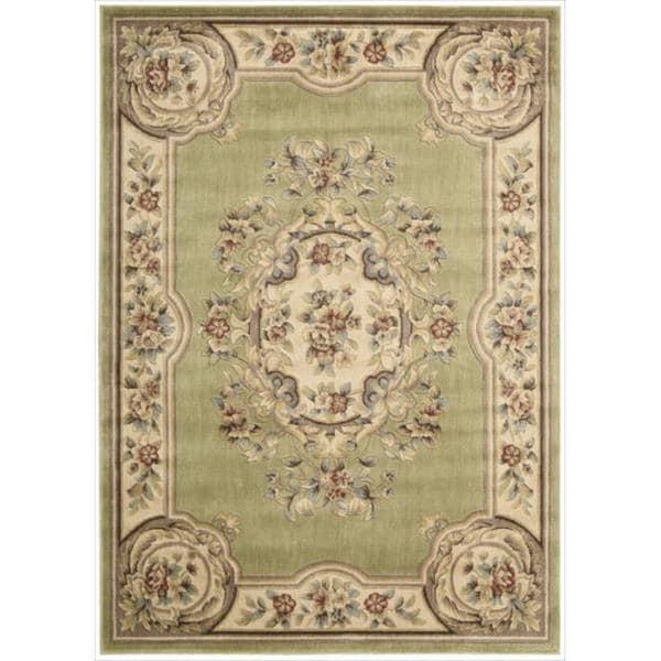 Nourison Chateau Green Rug (5'3 x 7'5)
