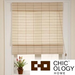 Chicology Roman Shade Cotton and Jute Fabric Privacy Kyoto Cappuccino Cream (30-inch x 72-inch )