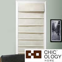 Chicology Standard Cord Lift Roman Shade, Cotton - 100% Cotton, Privacy - Sahara Sandstone