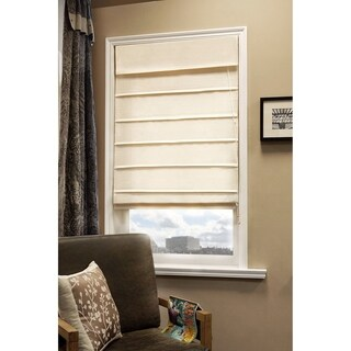 Chicology Sahara Sandstone Standard Cord Lift Privacy Roman Shades