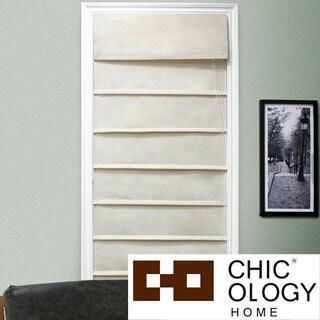Chicology Roman Shade 100-percent Cotton Fabric Privacy Sahara Sandstone Cream (27-inch x 64-inch )