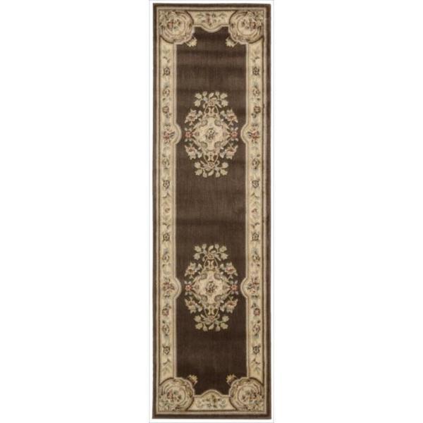 Nourison Chateau Brown Rug (2'3 x 8')