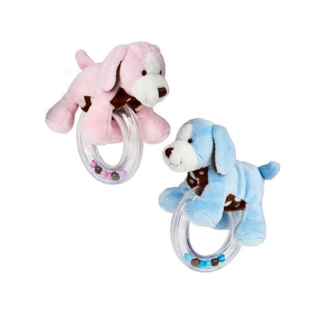 Mary Meyer Sweet Chocolate Puppy Ring Rattle
