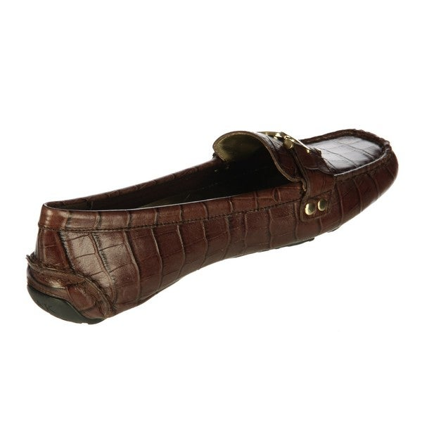 AK Anne Klein Women's 'Greater' Ornamented Driving Loafer