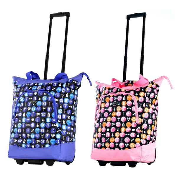 Nursing Bags On Wheels >> Shop Olympia Nurse 20 Inch Rolling Shopper Tote Free
