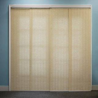 Chicology Adjustable Sliding Panel Cordless Shade Double Rail Track Privacy Fabric 80-inch x 96-inch Provence Vanilla