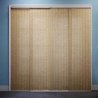 """Chicology Adjustable Sliding Panel, Beach - Natural Woven, Privacy, 80""""W X 96""""H - Provence Maple"""