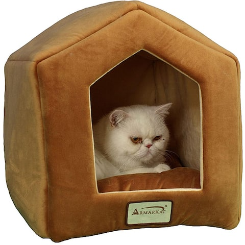 Armarkat Brown 18x14-inch Cat Bed - Small