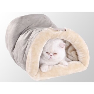 Armarkat 22-inch Faux Suede and Fur Sage Green Small Pet Bed