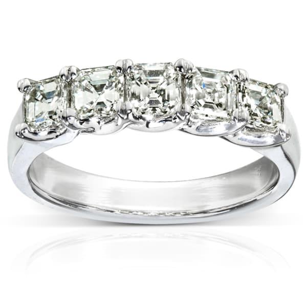 Annello by Kobelli 10k White Gold 1 1/2ct TDW Diamond Wedding-style Band (J-K, VVS1-VVS2)