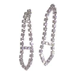 Detti Originals Silvertone Brass Clear Crystal Tie Earrings