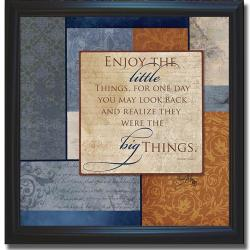 Elizabeth Medley 'Enjoy the Little Things' Framed Canvas Art