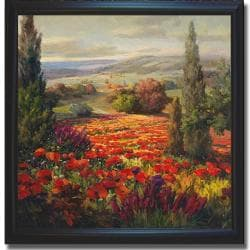 Roberto Lombardi 'Fields of Bloom' Framed Canvas