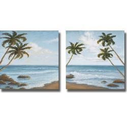 Michael Marcon 'Atlantic I and II' 2-piece Canvas Art Set