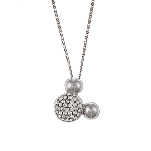 Disney's Mickey Mouse Sterling Silver Crystal Necklace