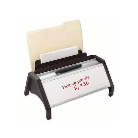 Quartet Black ODS Erasable Desktop Incline Organizer