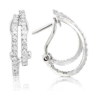 Annello by Kobelli 14k White Gold 7/8ct TDW Diamond Earrings (H-I, I1-I2)