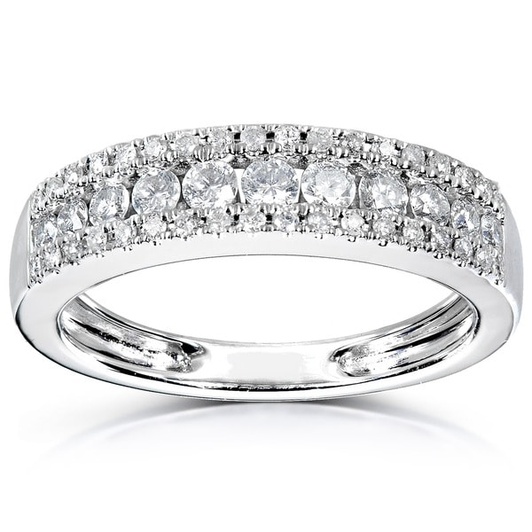 Annello by Kobelli 14k White Gold 1/2ctTDW Diamond Anniversary Band (H-I, I1-I2)