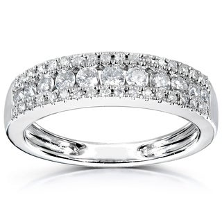Annello 14k White Gold 1/2ctTDW Diamond Anniversary Band|https://ak1.ostkcdn.com/images/products/6148570/P13808167.jpg?_ostk_perf_=percv&impolicy=medium