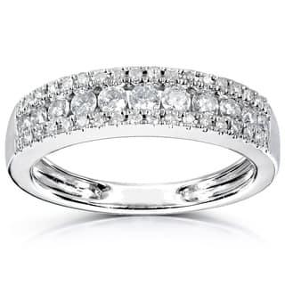 Annello 14k White Gold 1/2ctTDW Diamond Anniversary Band|https://ak1.ostkcdn.com/images/products/6148570/P13808167.jpg?impolicy=medium