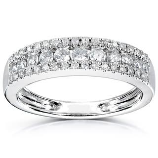 annello 14k white gold 12cttdw diamond anniversary band - Wedding Ring Band