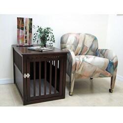 Crown Pet Large Espresso Furniture Pet Crate
