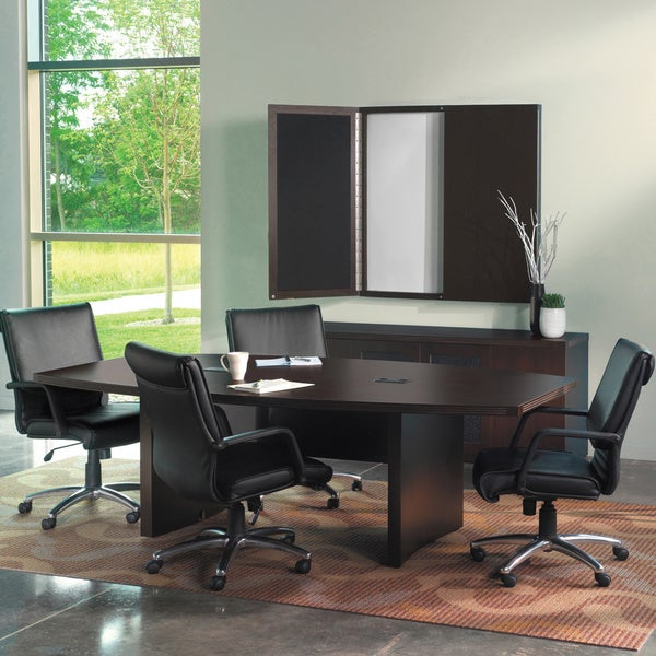 Shop Mayline Aberdeen Ft Conference Boatshaped Table Free - 8 foot conference room table