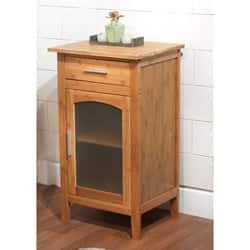 Simple Living Bamboo Glass Door Linen Floor Cabinet https://ak1.ostkcdn.com/images/products/6148672/Bamboo-Glass-Door-Linen-Floor-Cabinet-P13808229.jpg?impolicy=medium