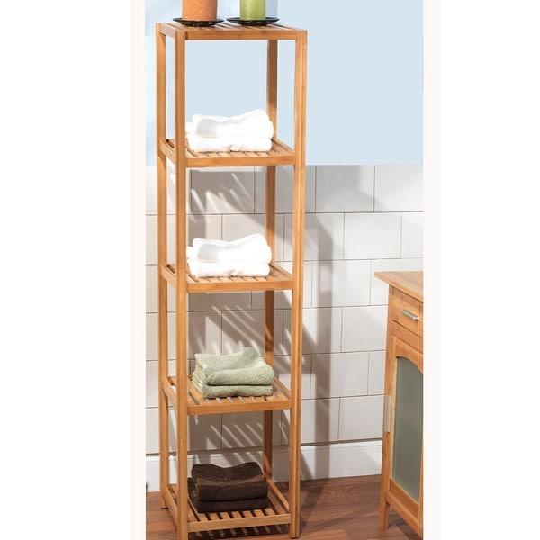 Luxury Simple Living Bamboo 3Tier Shelf  14056189  Overstockcom Shopping